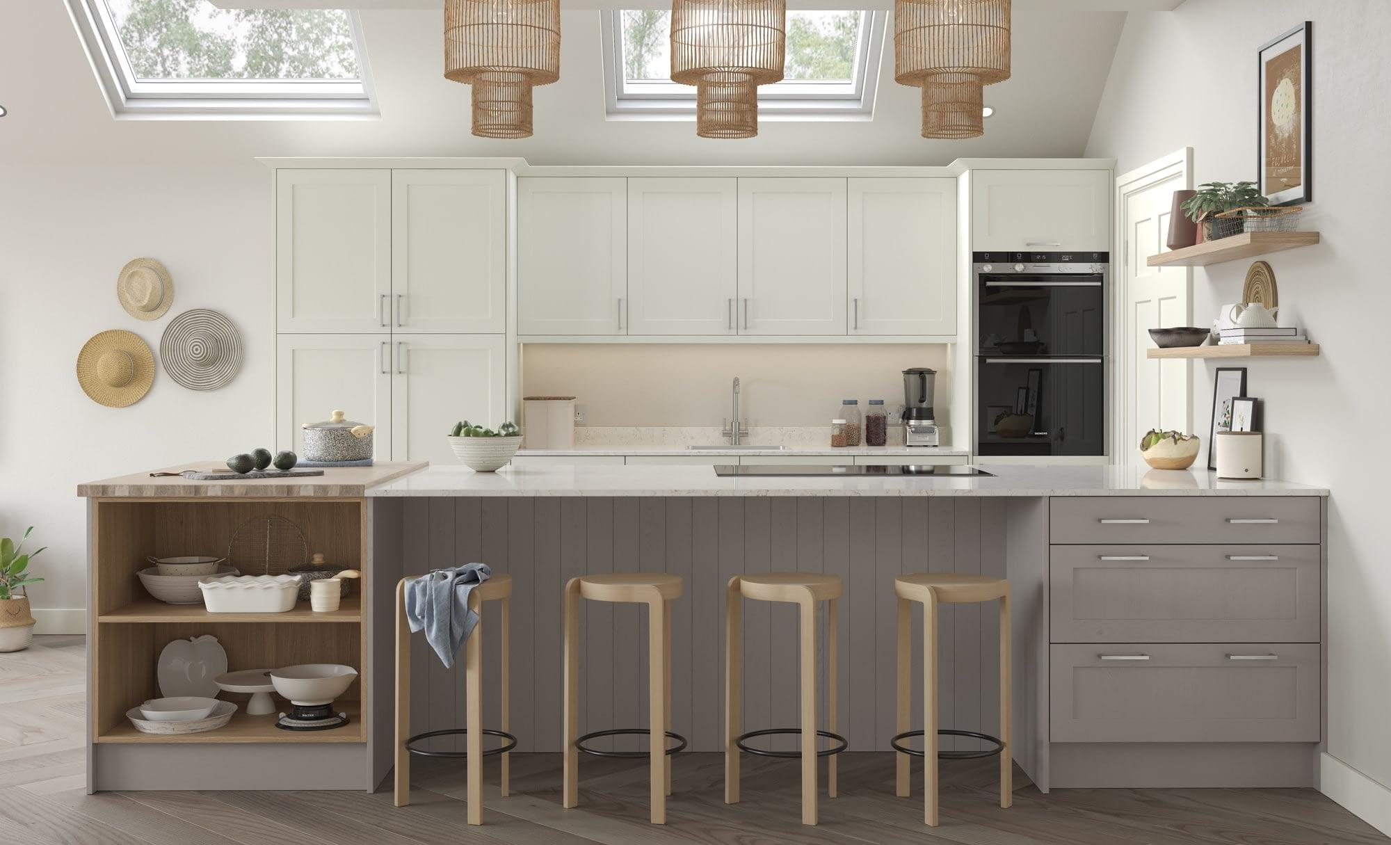 Kitchen Doors Peterborough ALDANA Porcelain & Cashmere