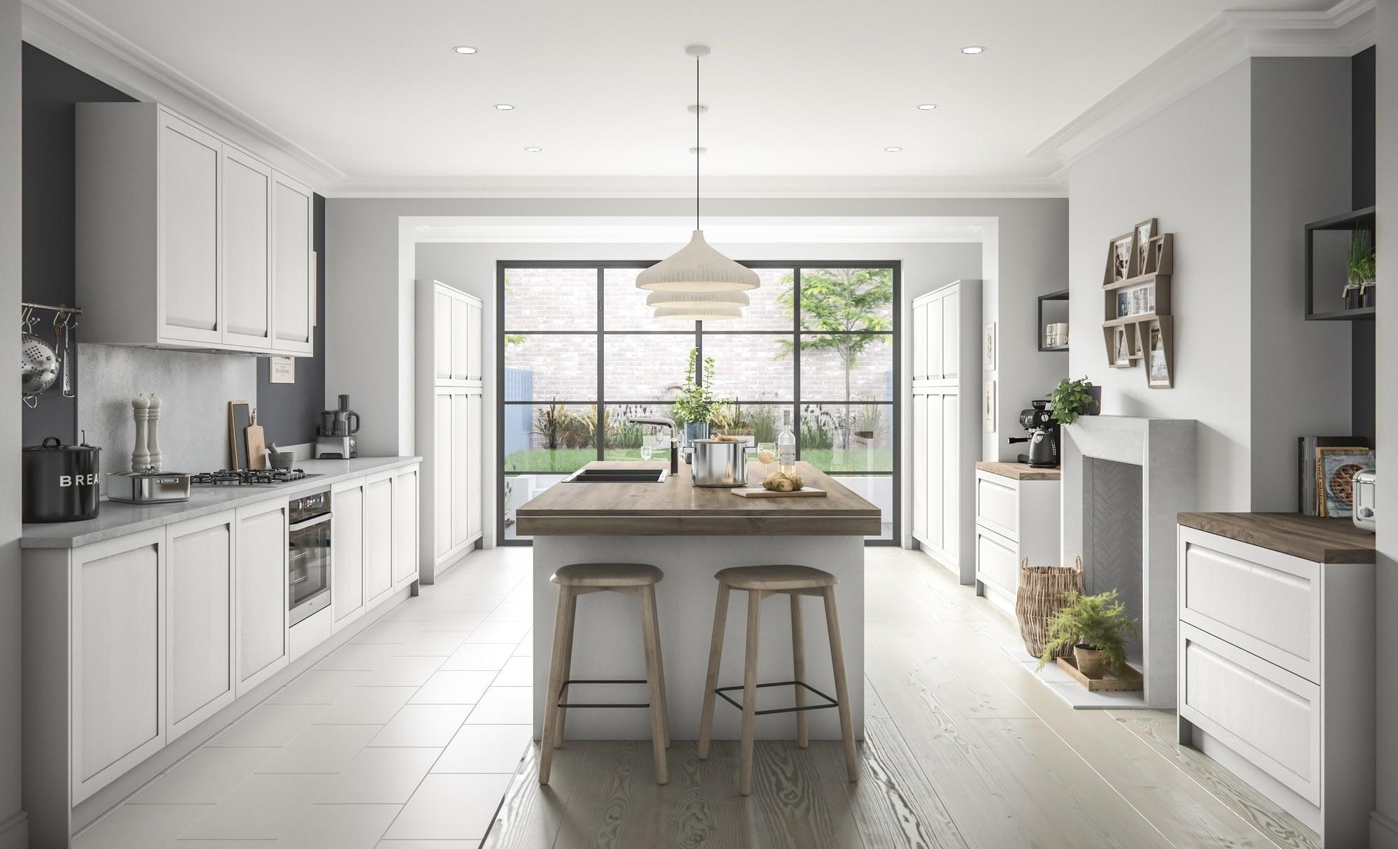 Kitchen Doors Peterborough HARBORNE Light Grey