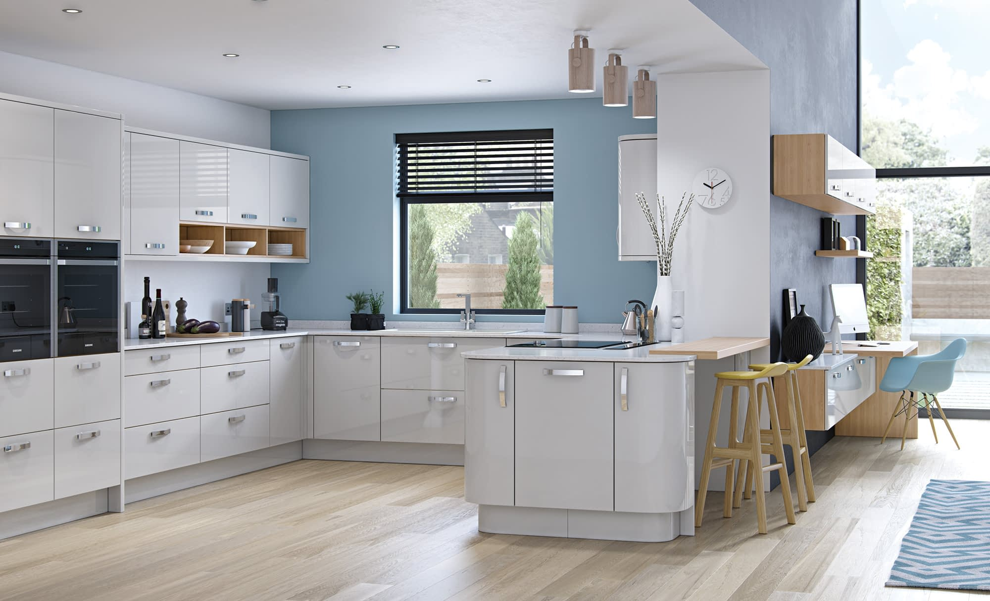 Kitchen Doors Peterborough ZOLA GLOSS Light Grey