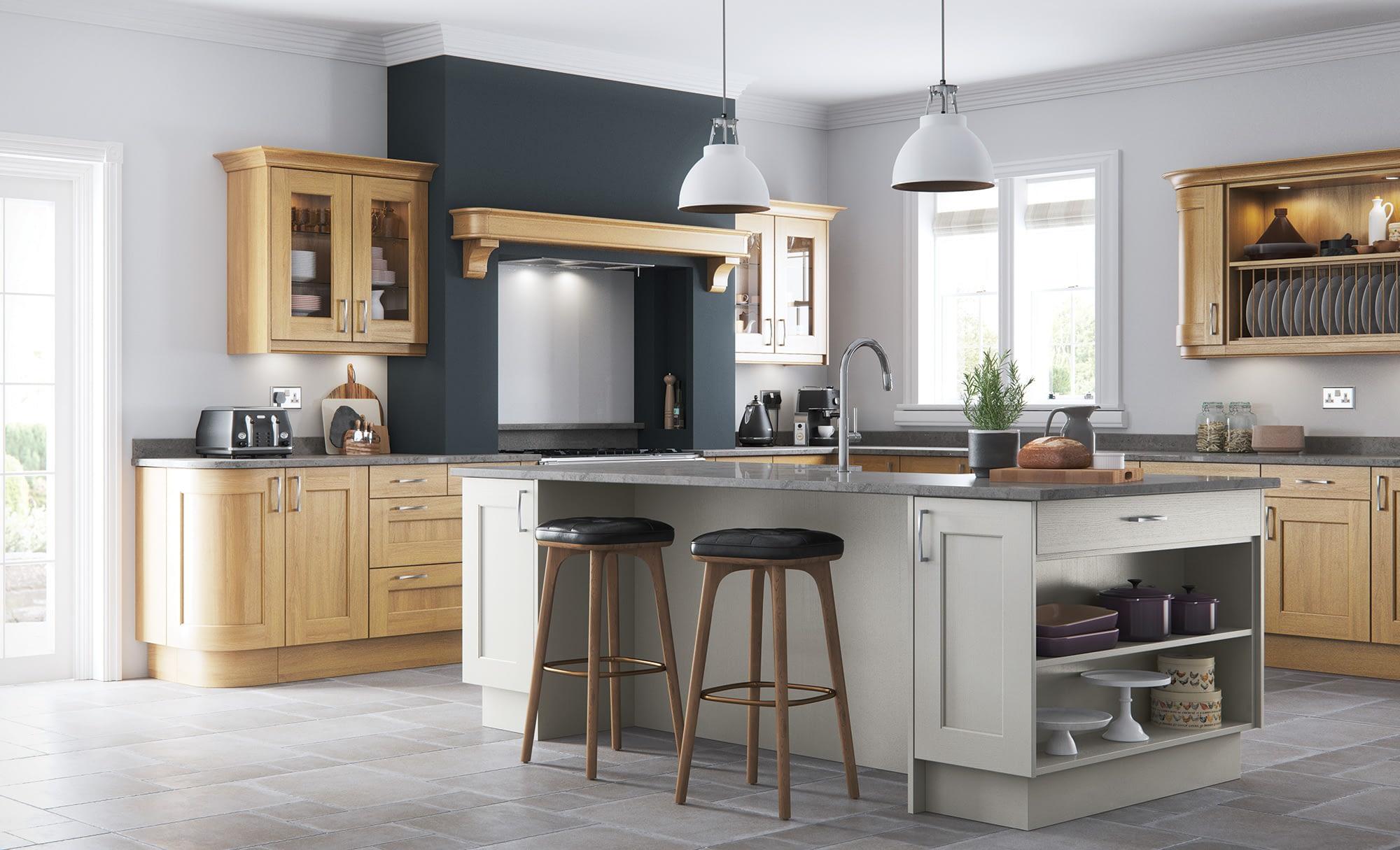 Kitchen Doors Peterborough WAKEFIELD OAK & Stone