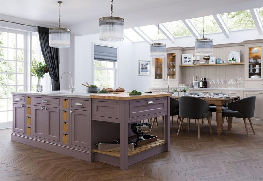 Kitchen Doors Peterborough BELGRAVIA Lavendar Grey & Cashmere