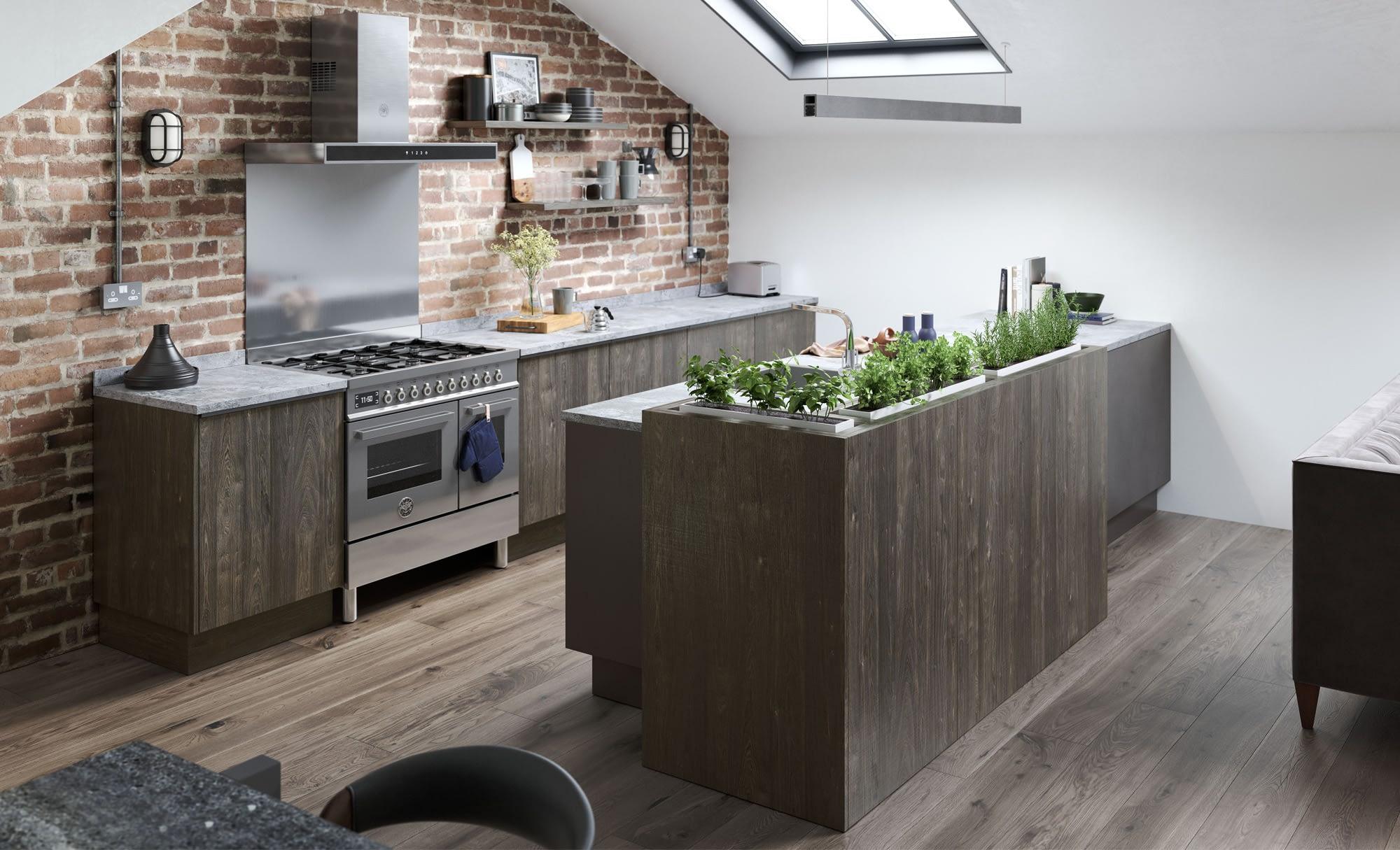 Kitchen Doors Peterborough REZANA Carbon Oak & Ferro Iron