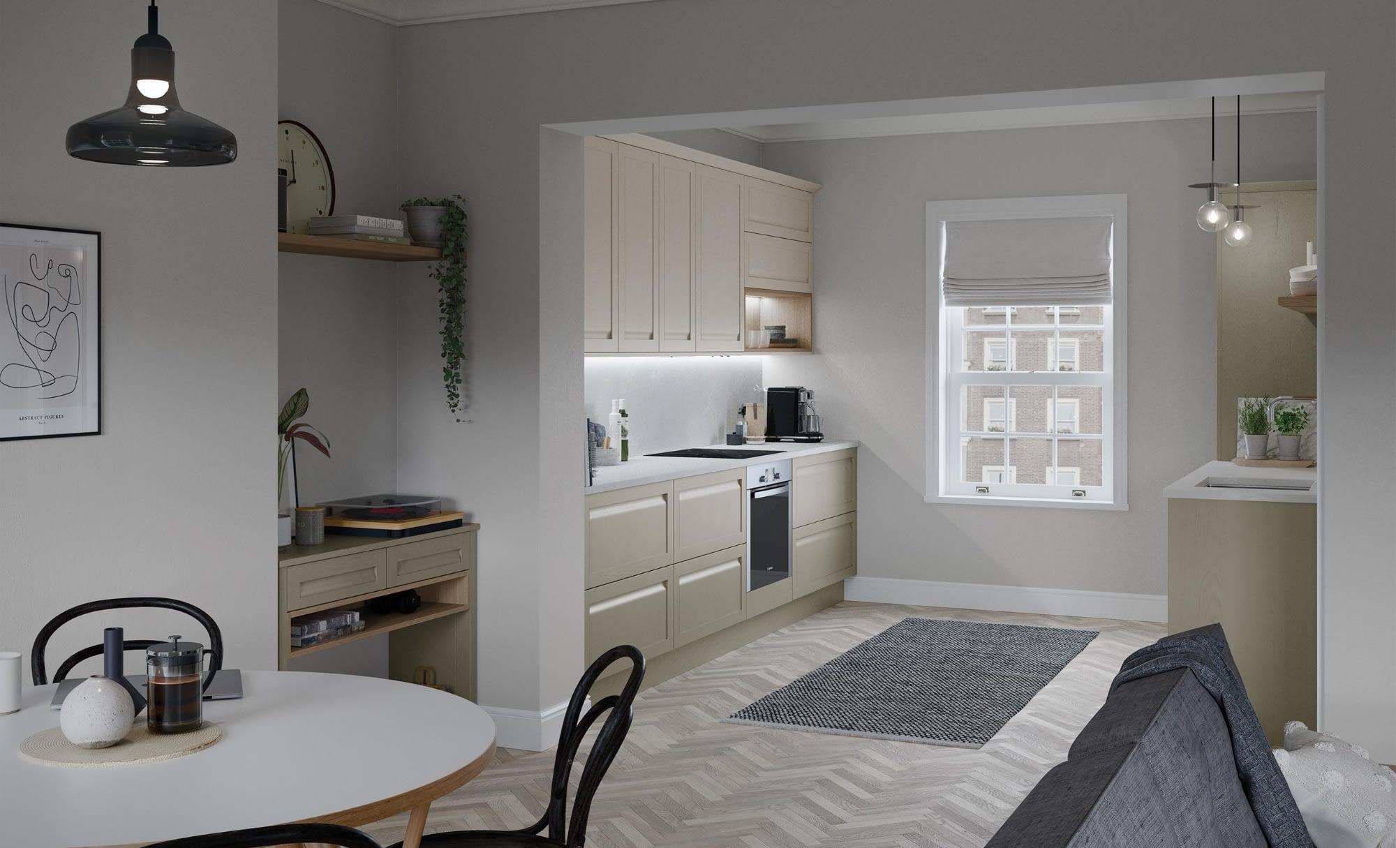 Kitchen Doors Peterborough HARBORNE Shell & Stone