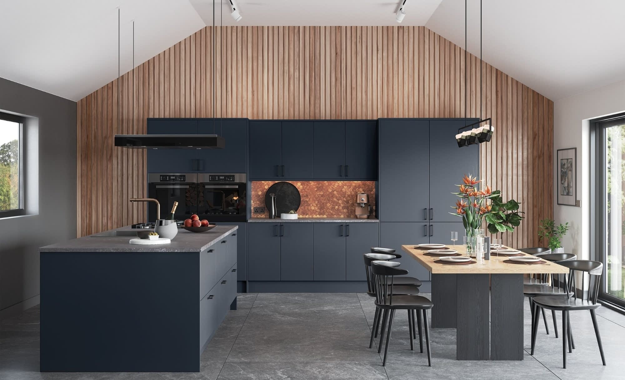 Kitchen Doors Peterborough ZOLA MATTE Slate Blue