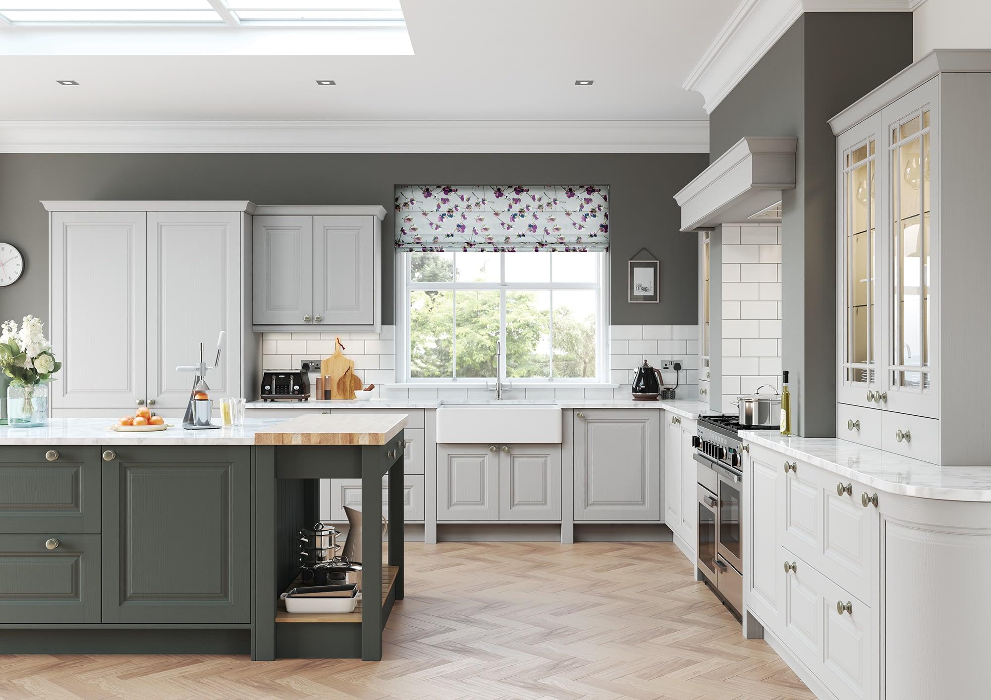 Kitchen Doors Peterborough JEFFERSON Light Grey & Gun Metal Grey