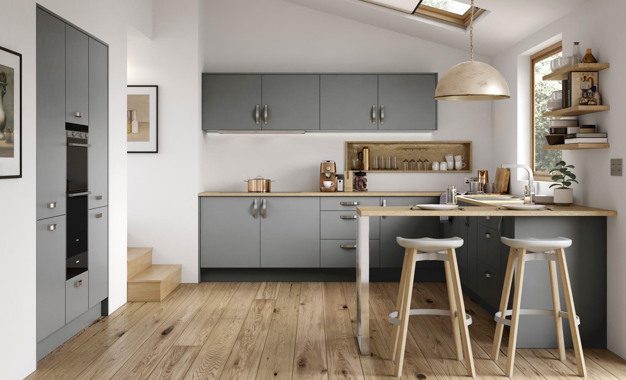 Kitchen Doors Peterborough ZOLA SOFT-MATTE Dust Grey