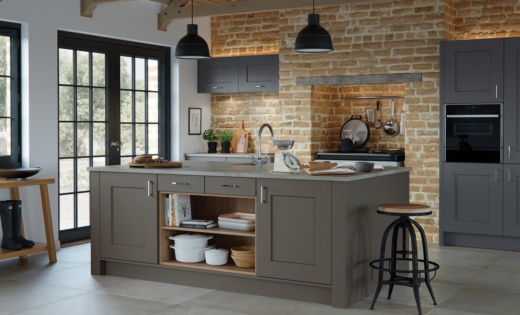 Kitchen Doors Peterborough CLONMEL Lava & Graphite