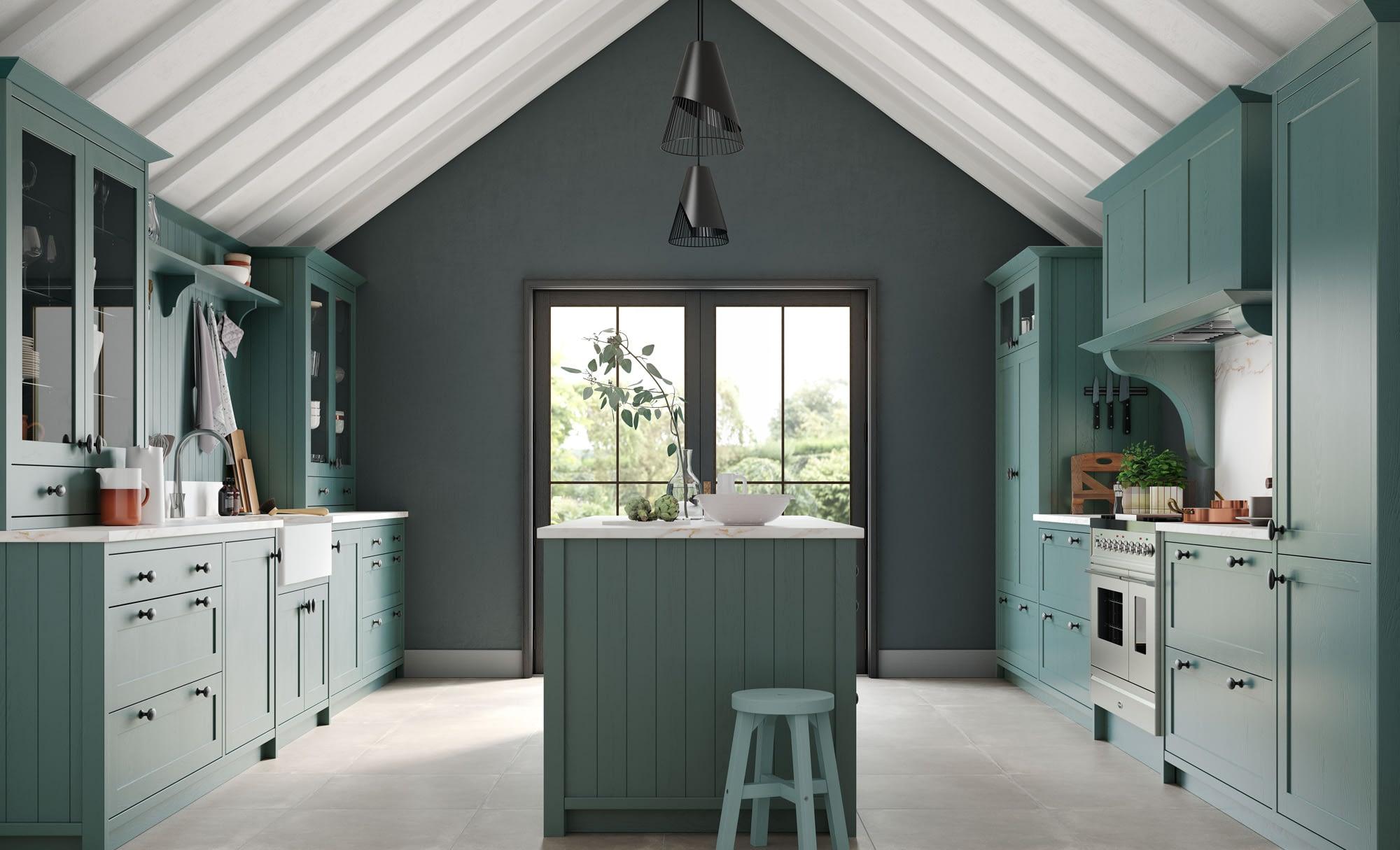 Kitchen Doors Peterborough ALDANA Viridian