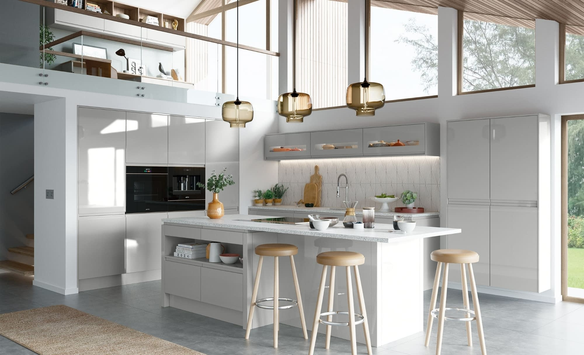 Kitchen Doors Peterborough STRADA GLOSS Light Grey