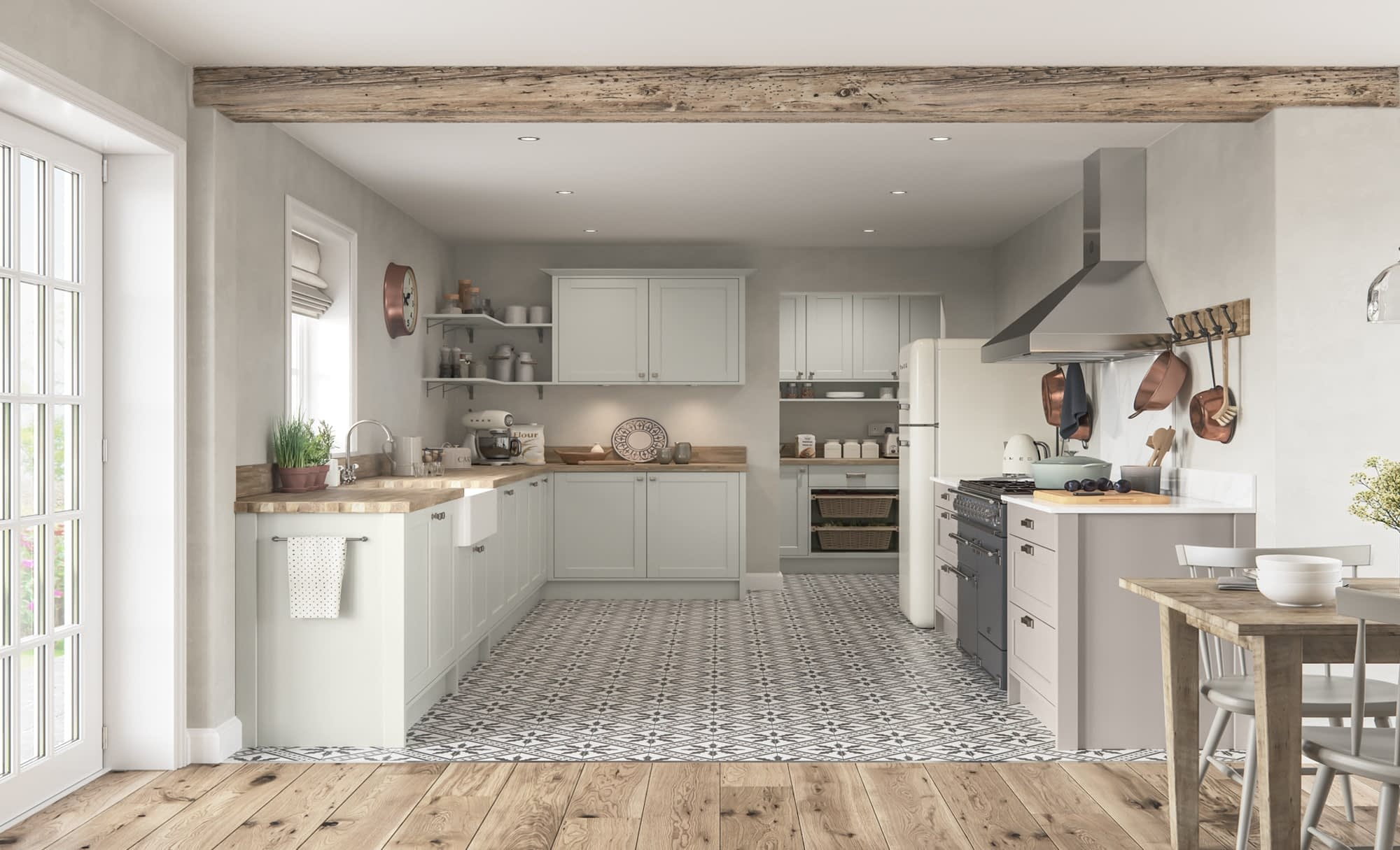 Kitchen Doors Peterborough DAWSON Porcelain & Cashmere