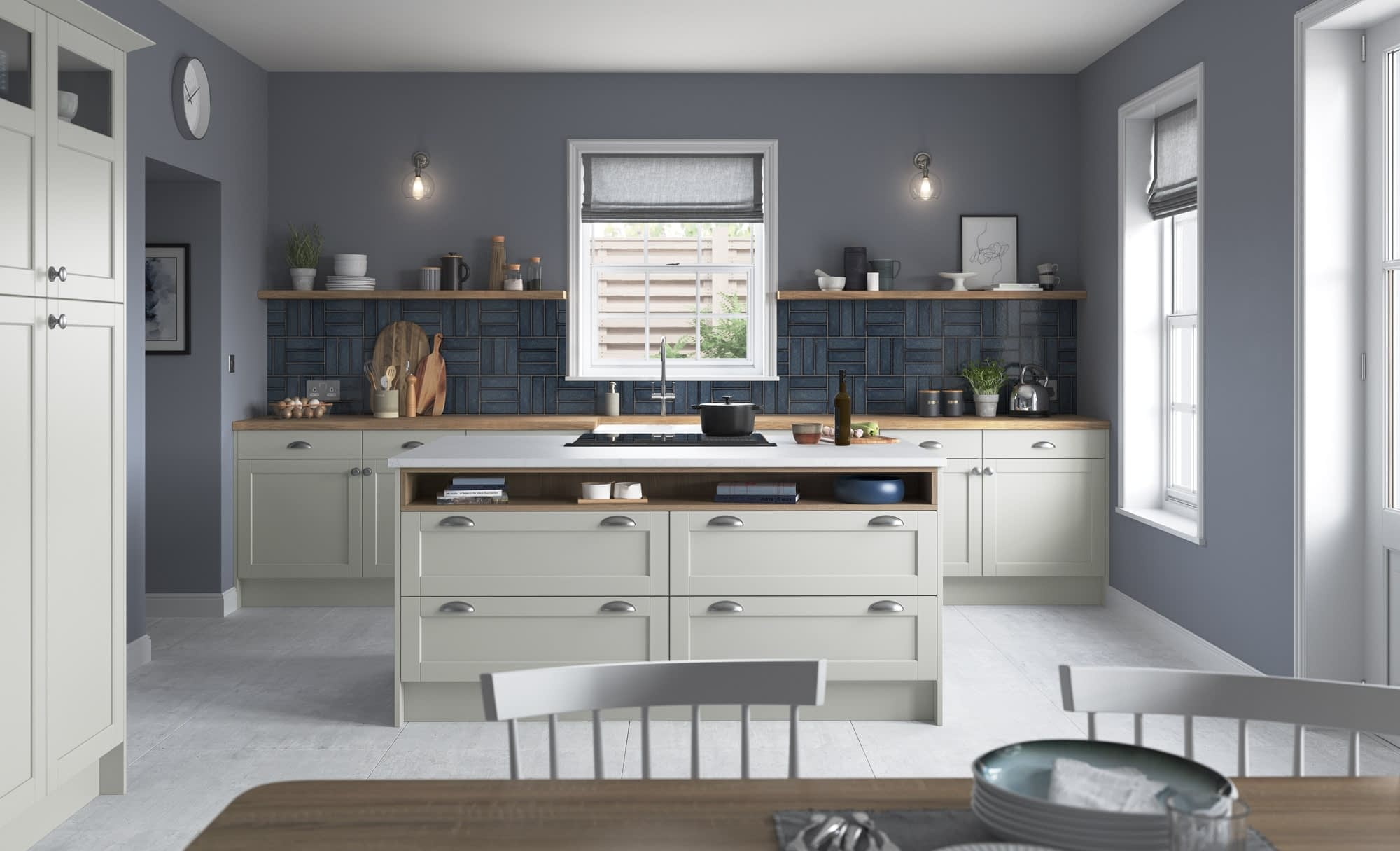 Kitchen Doors Peterborough DAWSON Light Grey