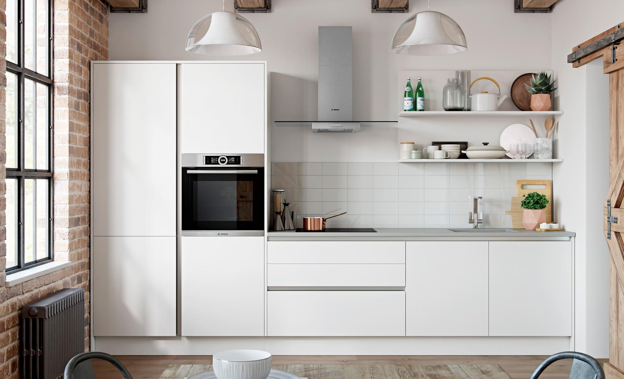 Kitchen Doors Peterborough ZOLA SOFT-MATTE HANDLELESS White