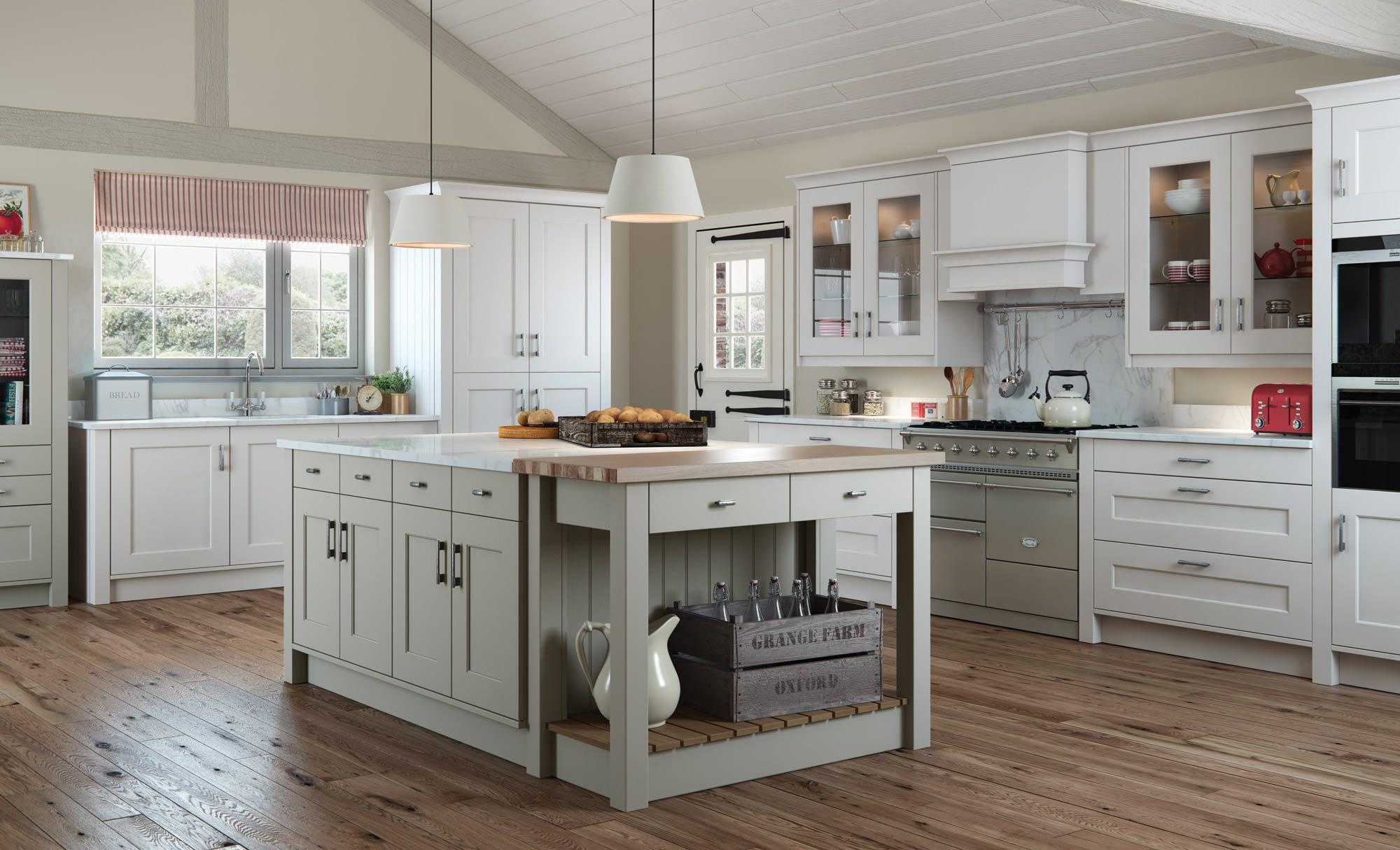 Kitchen Doors Peterborough FLORENCE Stone & Light Grey