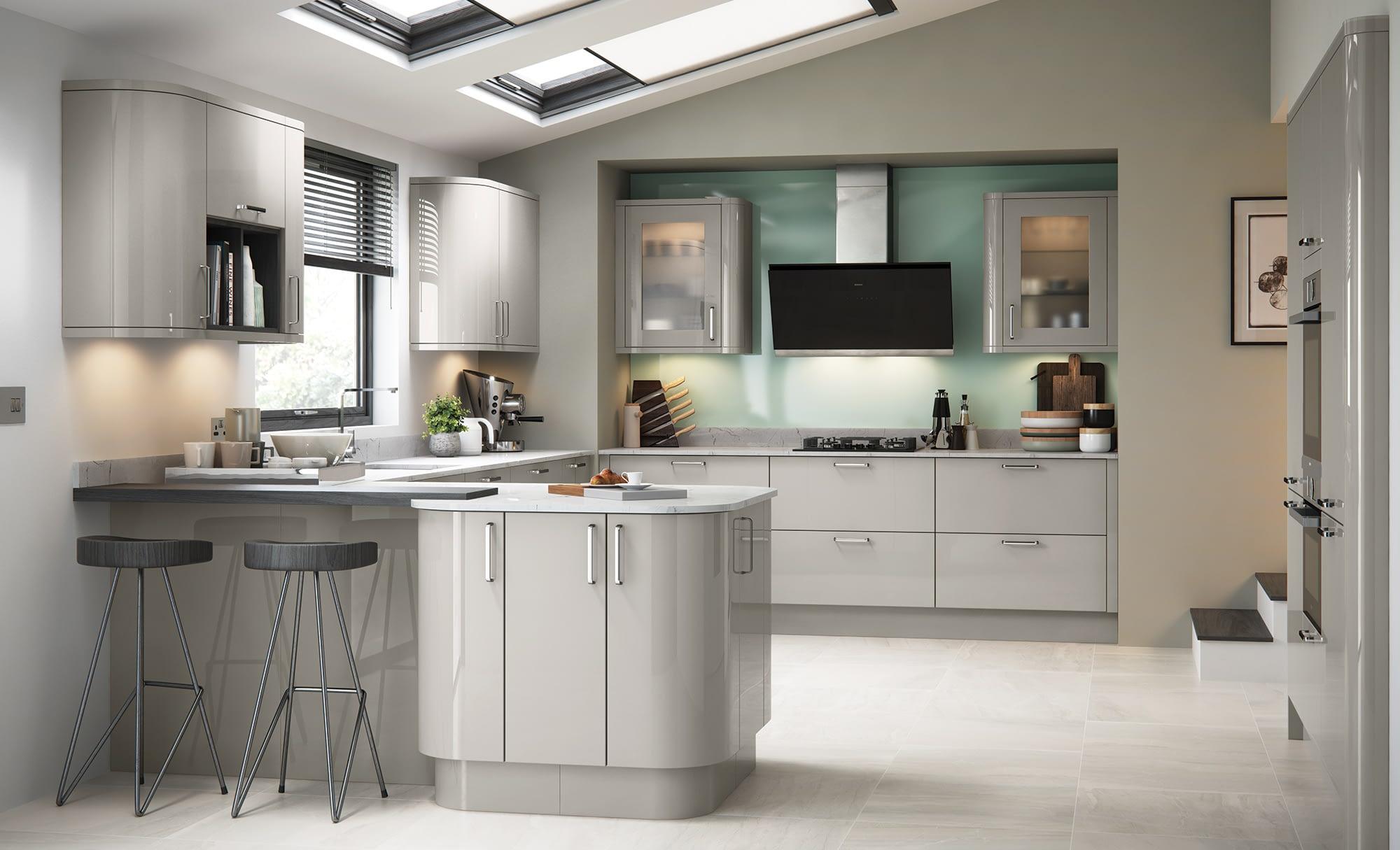 Kitchen Doors Peterborough ZOLA GLOSS Cashmere