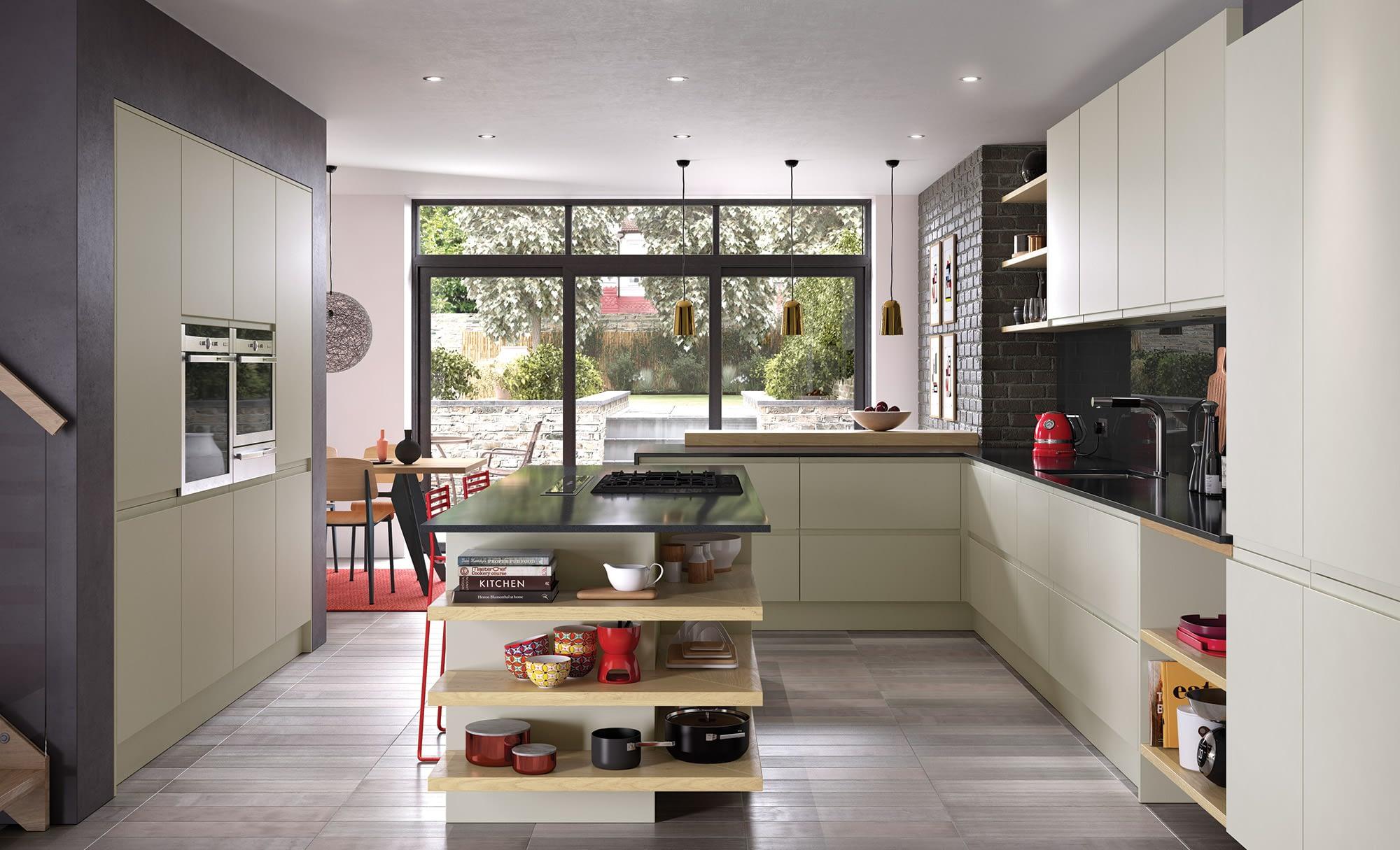 Kitchen Doors Peterborough STRADA MATTE Mussel