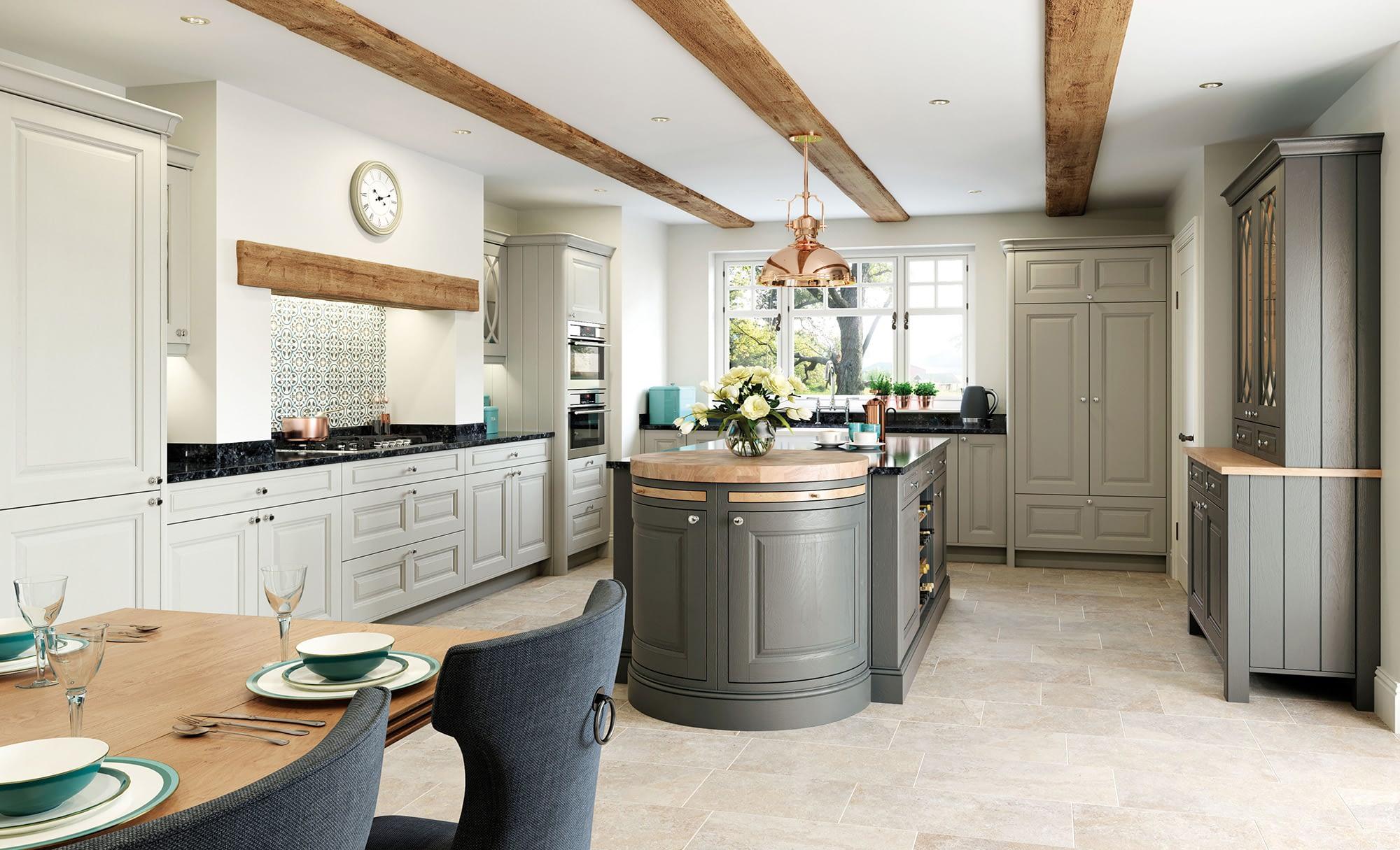 Kitchen Doors Peterborough JEFFERSON Stone & Gun Metal Grey