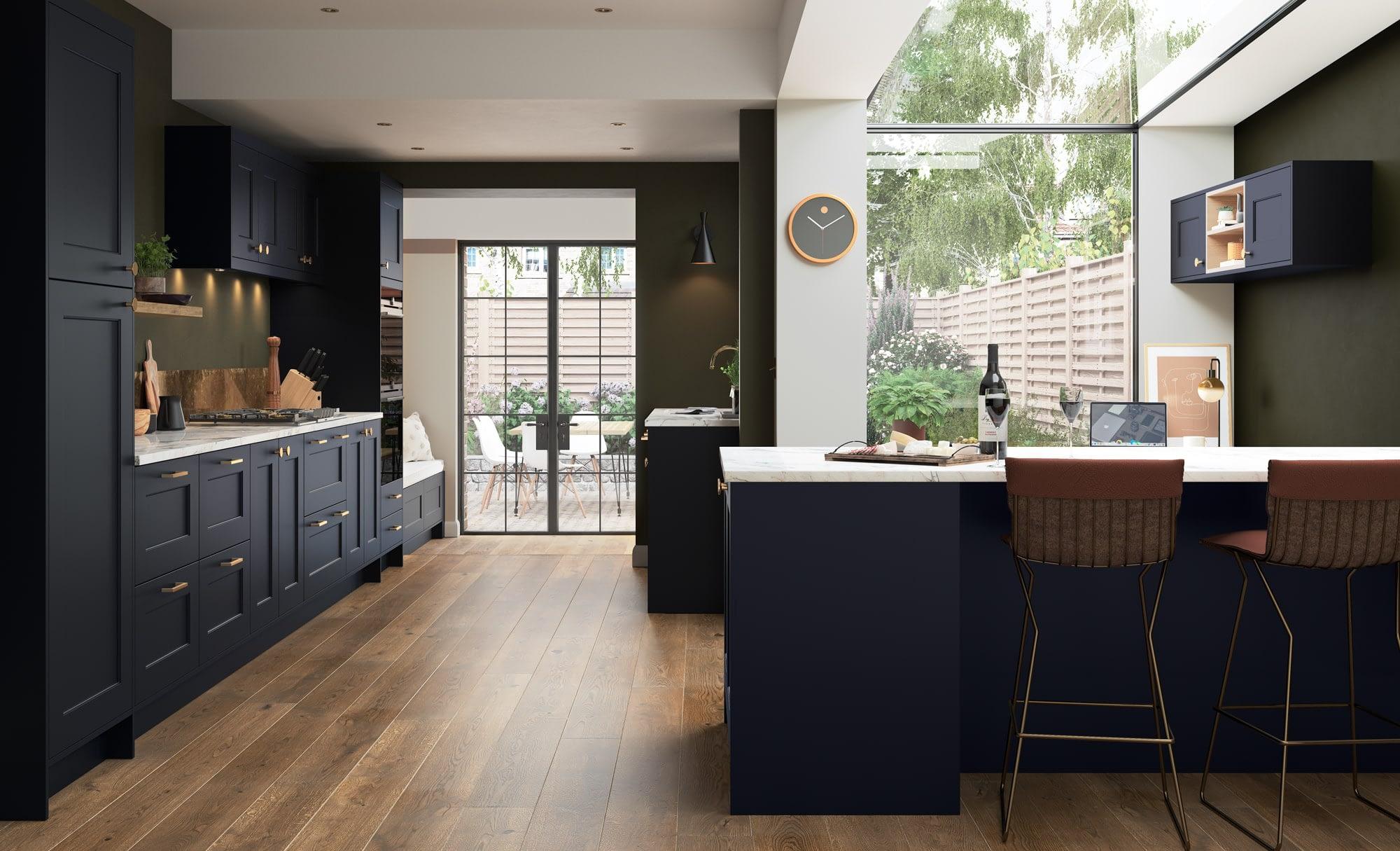 Kitchen Doors Peterborough FLORENCE Slate Blue
