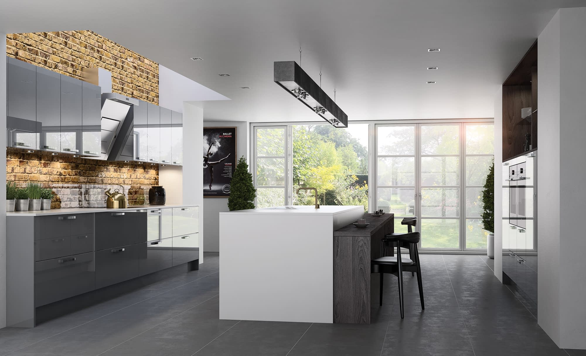 Kitchen Doors Peterborough ZOLA GLOSS Dust Grey