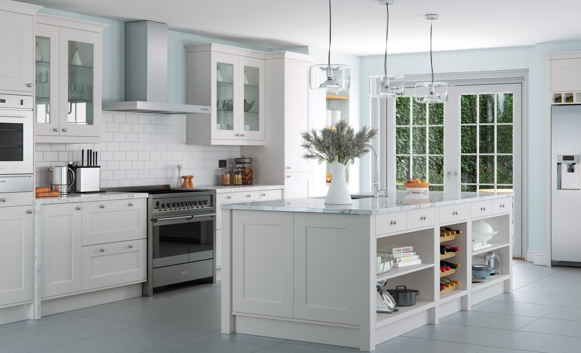 Kitchen Doors Peterborough FLORENCE Light Grey