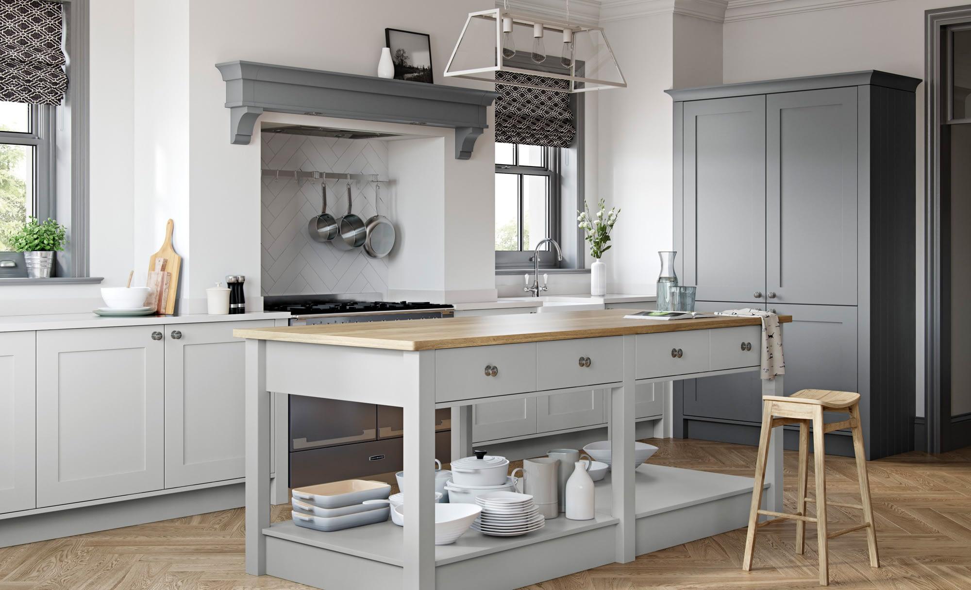 Kitchen Doors Peterborough GEORGIA Light Grey & Dust Grey