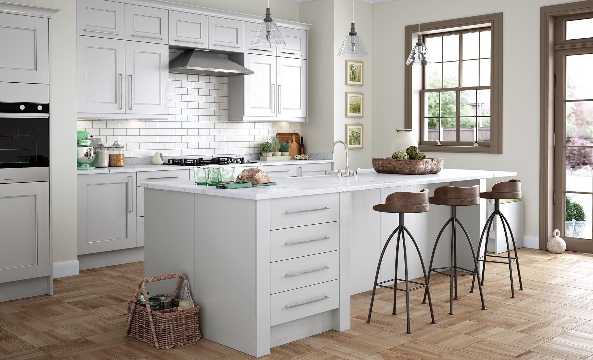 Kitchen Doors Peterborough WAKEFIELD Light Grey