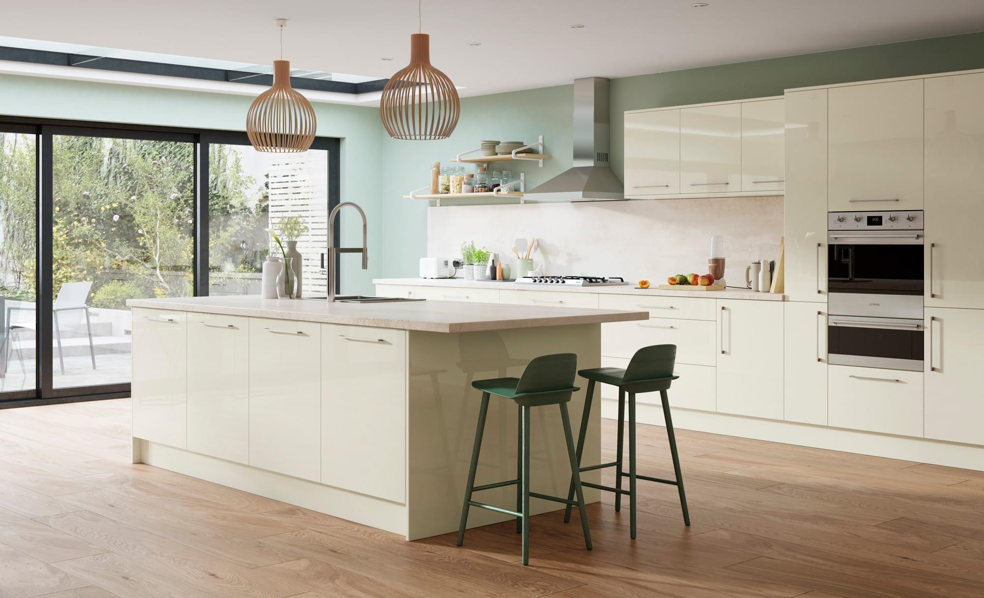 Kitchen Doors Peterborough ZOLA GLOSS Porcelain